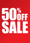 All CD's 50% OFF